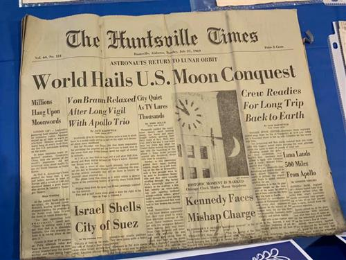 Huntsville Times July 21, 1969 newspaper